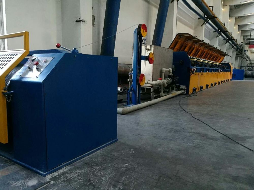 Fully Automatic Straight Line Wire Drawing Machine With Double Inverter Control