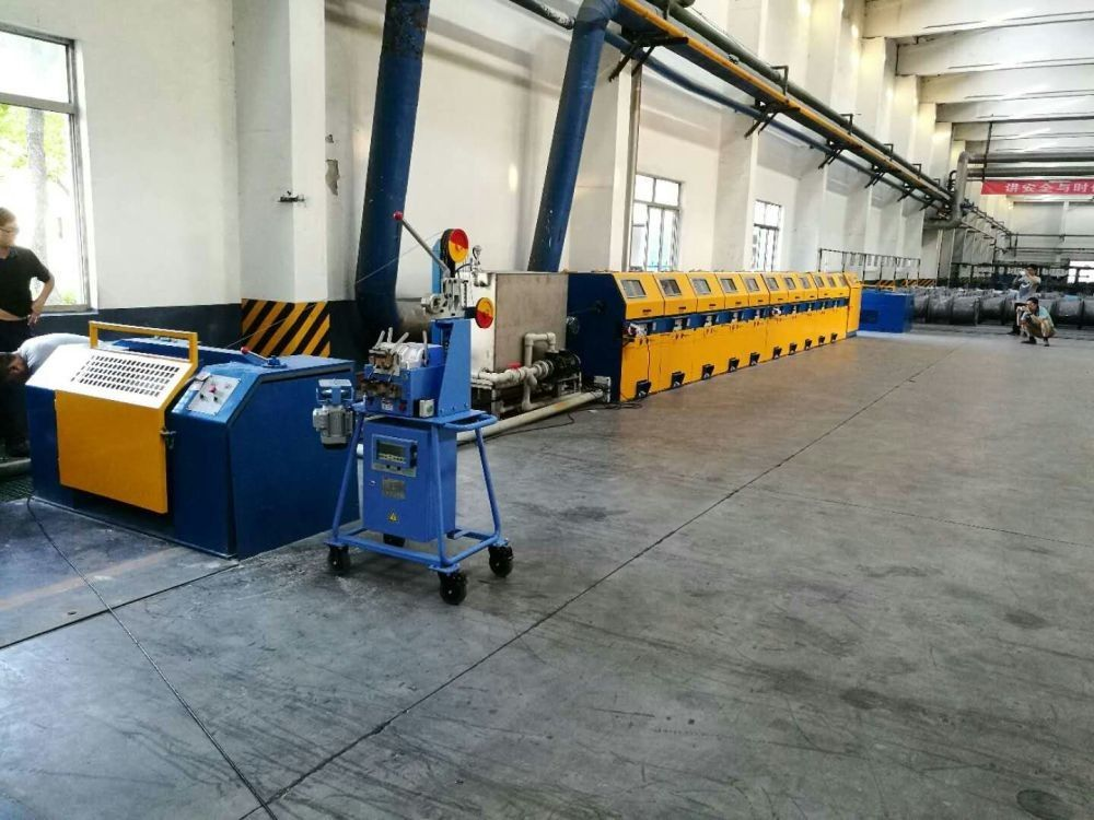 High Efficiency Welding Wire Drawing Machine , 10m / S Speed Wire Manufacturing Machine